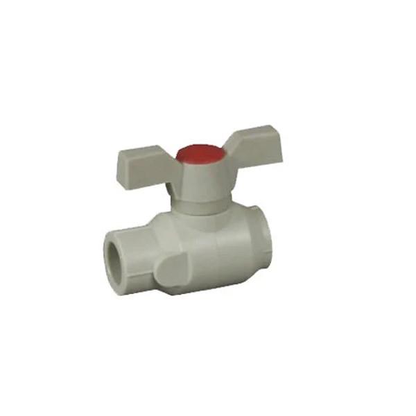 Поліпропілен кран кульовий з пластиковим шаром 20 ASG-Plast (Чехія)