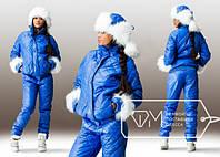 Зимний костюм прогулочный с шапкой синий
