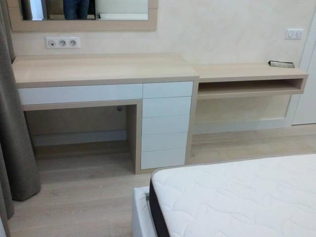 Туалетный столик - ДСП Egger Кремоно шампань 18 мм, ДСП Kronospan глянец 18мм