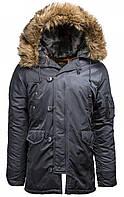 Куртка Alpha Industries Slim Fit N-3B 5XL Steel Blue, КОД: 1313225