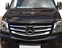 Mercedes Sprinter 2013-2020 гг. Дефлектор капота Мерседес Спринтер Мухобойка (V1, EuroCap)