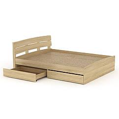 Кровать Модерн 160 + 2 ящика Компанит дуб сонома, КОД: 2350867