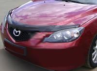 Mazda 3 2004-2008 гг. Дефлектор капота SD Мазда Мухобойка (EGR)