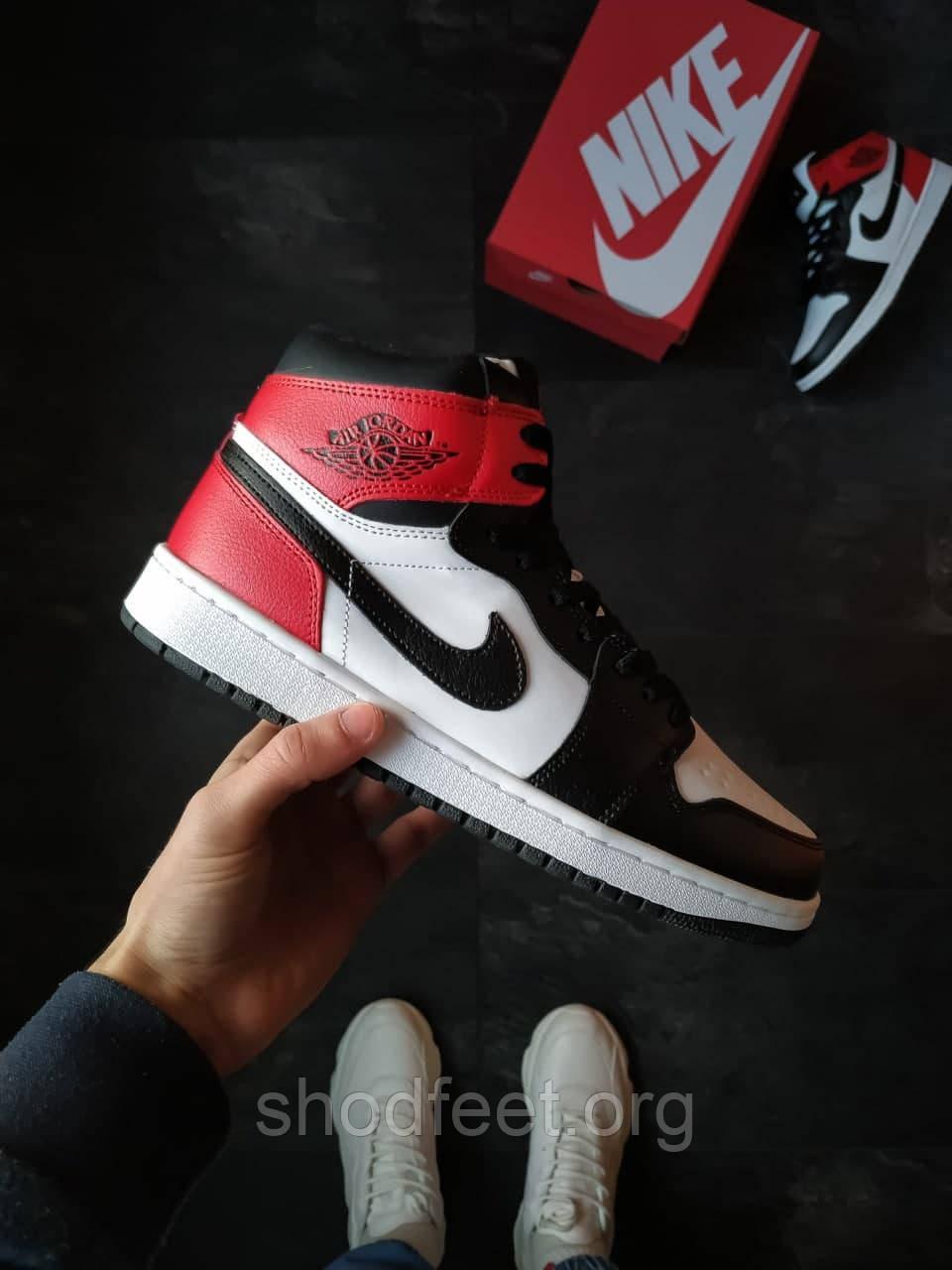 Зимние мужские кроссовки Jordan 1 Retro Winter Black Toe