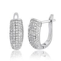 Серебряные серьги Silvex 925 с фианитом СК2Ф 207, КОД: 1900355