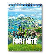Блокнот Fortnite для заметок в клеточку (50 листов) с героями любимой игры Фортнайт