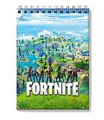 Блокнот Фортнайт для заміток в клітинку (50 аркушів) з героями улюбленої гри Fortnite