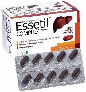 Фосфолипиды Эссетил растительный комплекс для лечения и очищения печени, эссенциале, холин, артишок 40капс