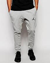 Чоловічі спортивні штани сірі в стилі Jordan | Джордан Спортивні