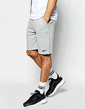 Шорти в стилі Nike ( Найк ) сірі трикотажні чорна галочка