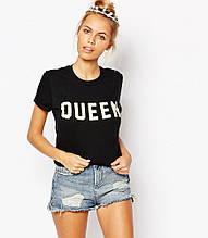 Женская Футболка Adolescent Clothing BOYfriend With Queen ( Черная)