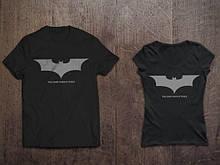 Мужская черная Футболка Бэтмен Темный рыцарь Batman