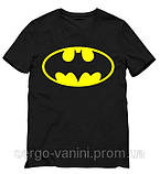 Мужская черная Футболка Batman Бэтмен , фото 2