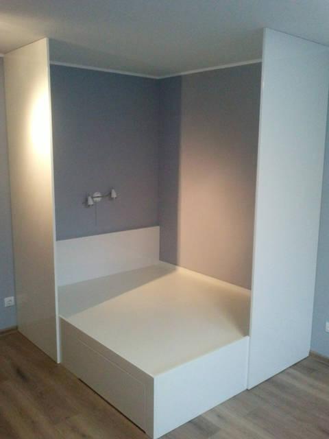 Кровать: спальное место 1,6*1,9 изготовлена из МДФ и ДСП.