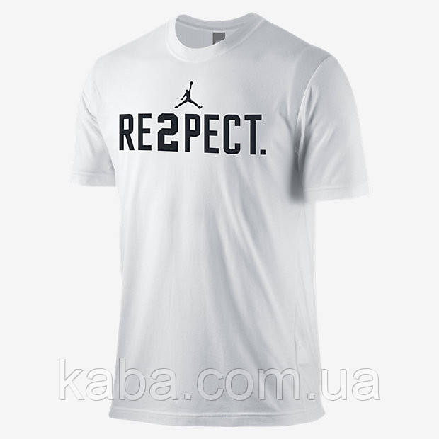 Футболка біла Air в стилі Jordan Respect чоловіча