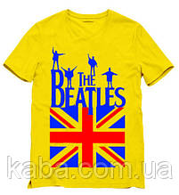 Чоловіча жовта Футболка The Beatles Зе Бітлз