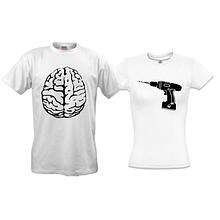 Парні футболки Дриль і мозок