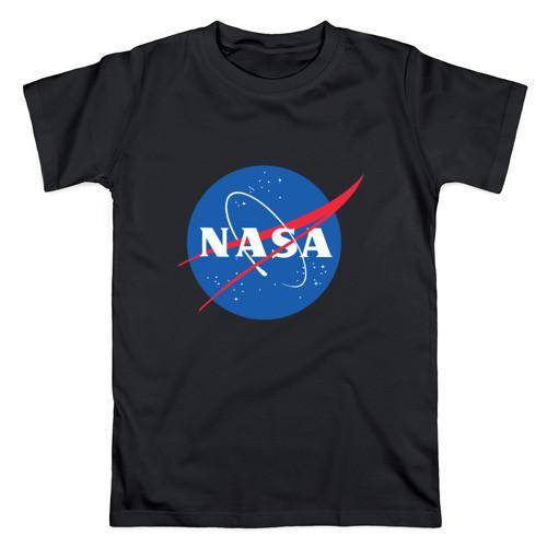 Футболка NASA чорна з логотипом, унісекс (чоловіча,жіноча,дитяча)