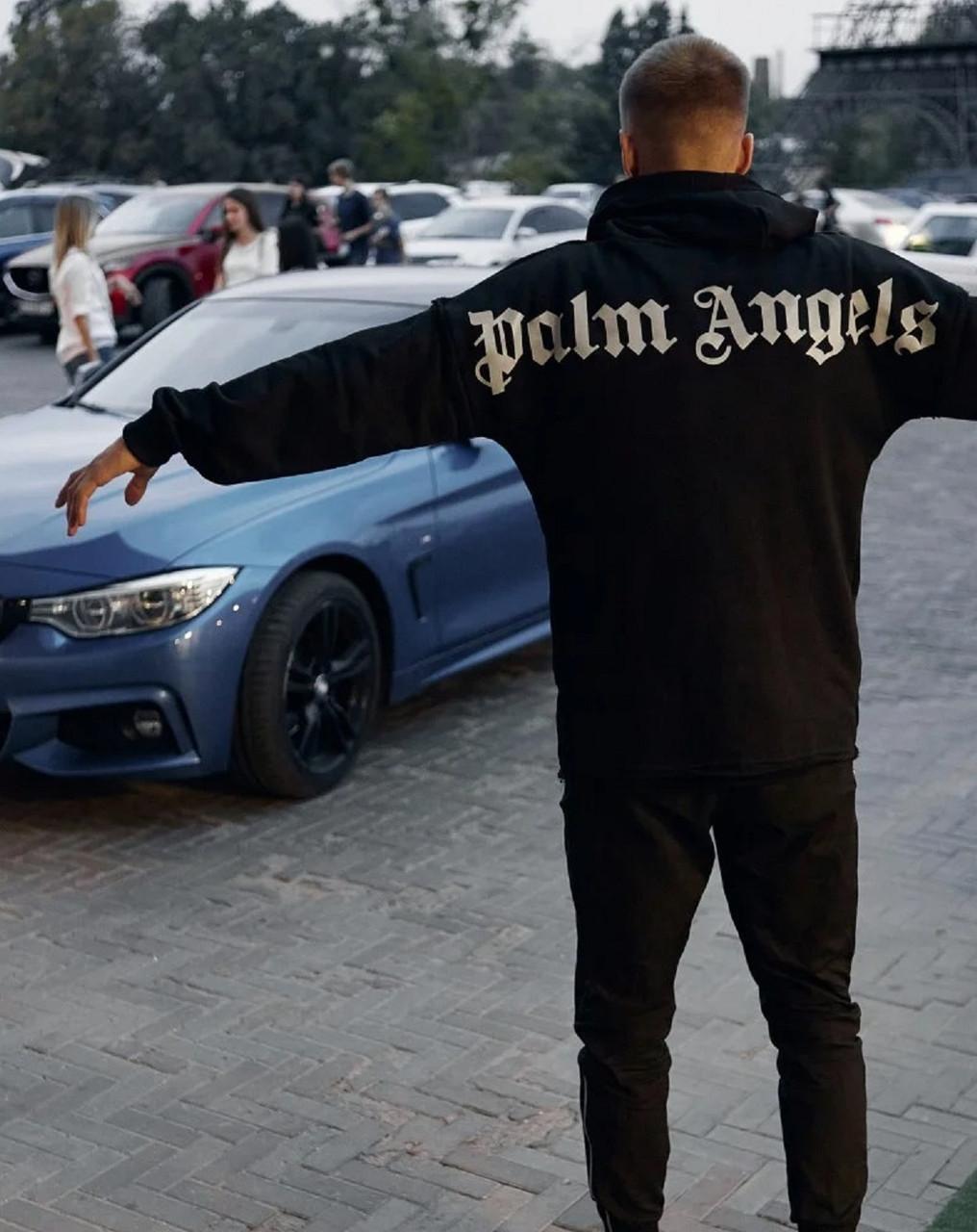 Худи Palm Angels Classic черная унисекс/Бирка оригинал