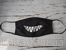 Защитная Маска (Многоразовая) Улыбка с зубами женская,мужская