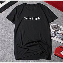Футболка Palm Angels LOGO черная унисекс