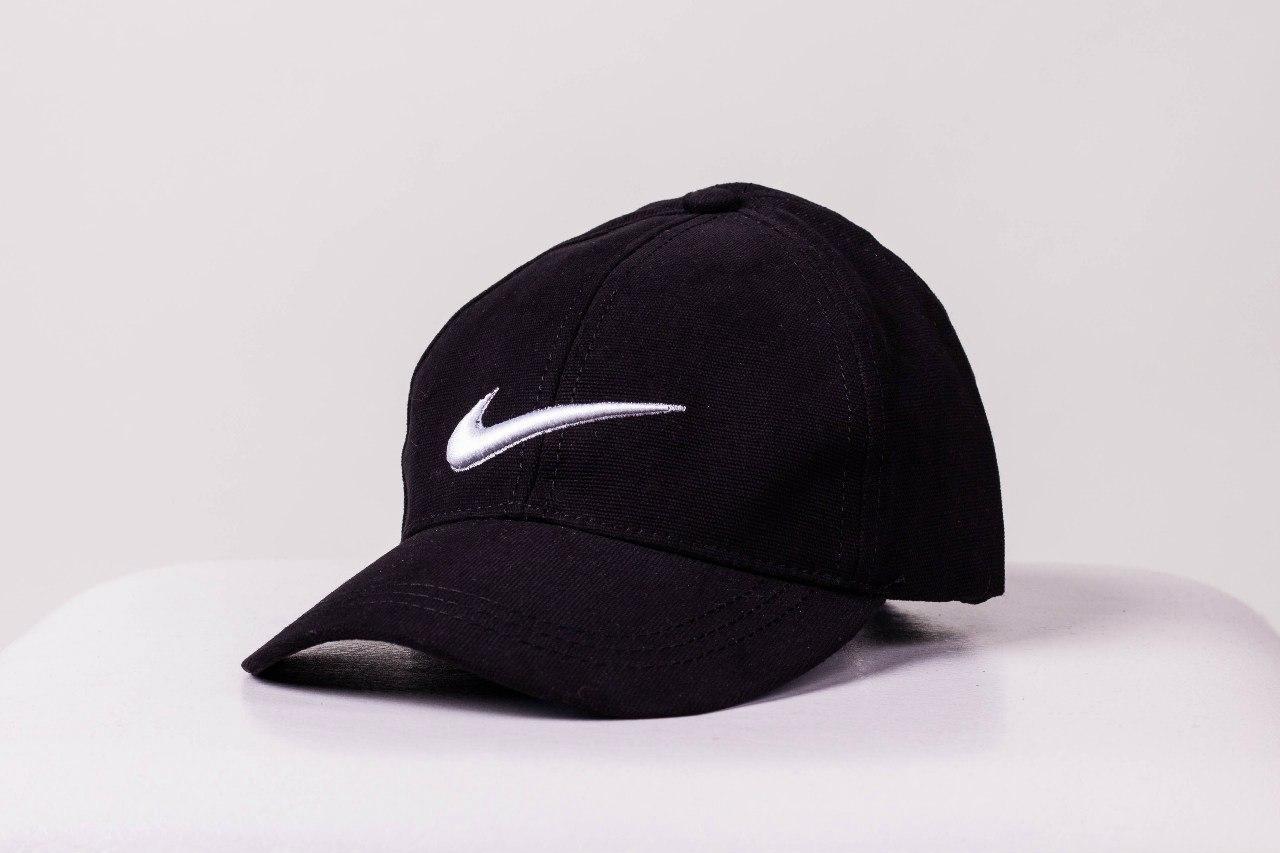 Кепка Nike черная Белая галочка мужская