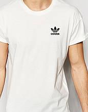 Біла Футболка Adidas маленький значок старий