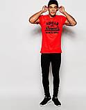 Футболка Adidas Адидас Ориджинал красная чёрный лого, фото 2