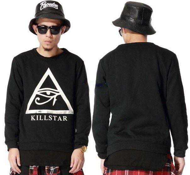 Чоловічий чорний Світшот Killstar Кофта