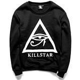 Чоловічий чорний Світшот Killstar Кофта, фото 2