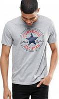 Мужская серая Футболкав стиле Converse All Star Ол Стар Конверс