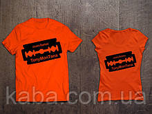 Мужская оранжевая Футболка Tony Montana Лицо со шрамом Тони Монтана Cocaine Busines