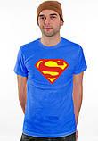 Чоловіча синя Футболка SUPERMAN Супермен, фото 2