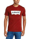 Футболка Levis красная белый лого, фото 3