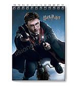 Блокнот Гарри Поттер для заметок в клеточку (50 листов) с героями Harry Potter