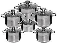 Кастрюли кухонный набор Edenberg EB-4011 12 шт Нержавеющая сталь 210066, КОД: 1288638
