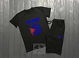 Мужской комплект футболка + шорты REEBOK черного цвета, фото 3