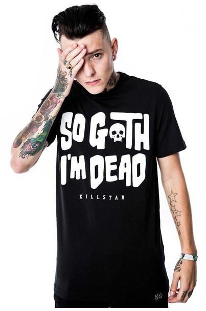 Чоловіча чорна Футболка Killstar So Goth