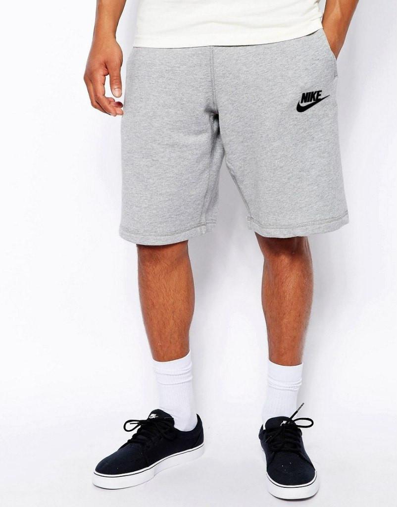 Шорты Nike ( Найк ) серые значёк+лого