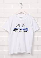 Детская футболка Gildan с надписью L Белая 1313107-L, КОД: 1477577