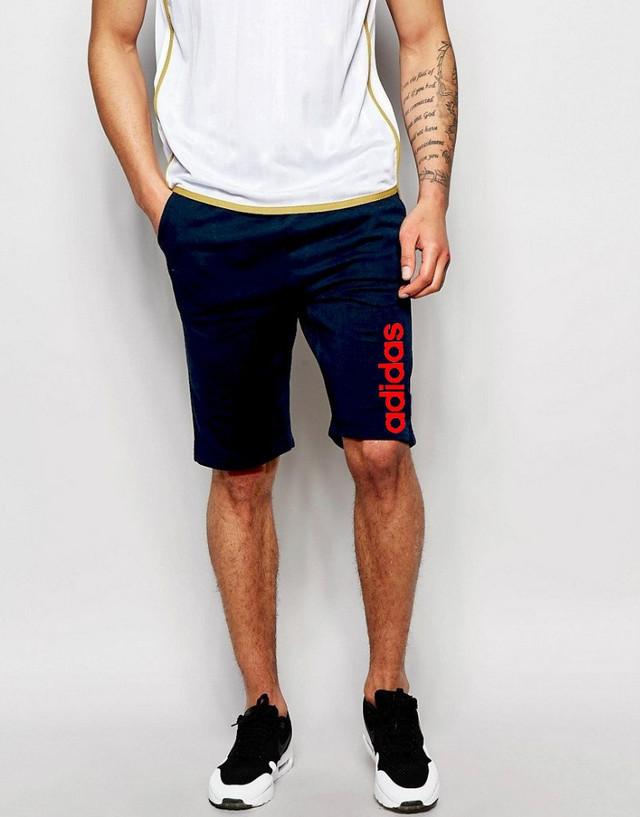 Шорты Adidas ( Адидас ) синие красный лого