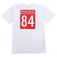 Мужская Футболка белаяв стиле HUF WORLDWIDE TEAM