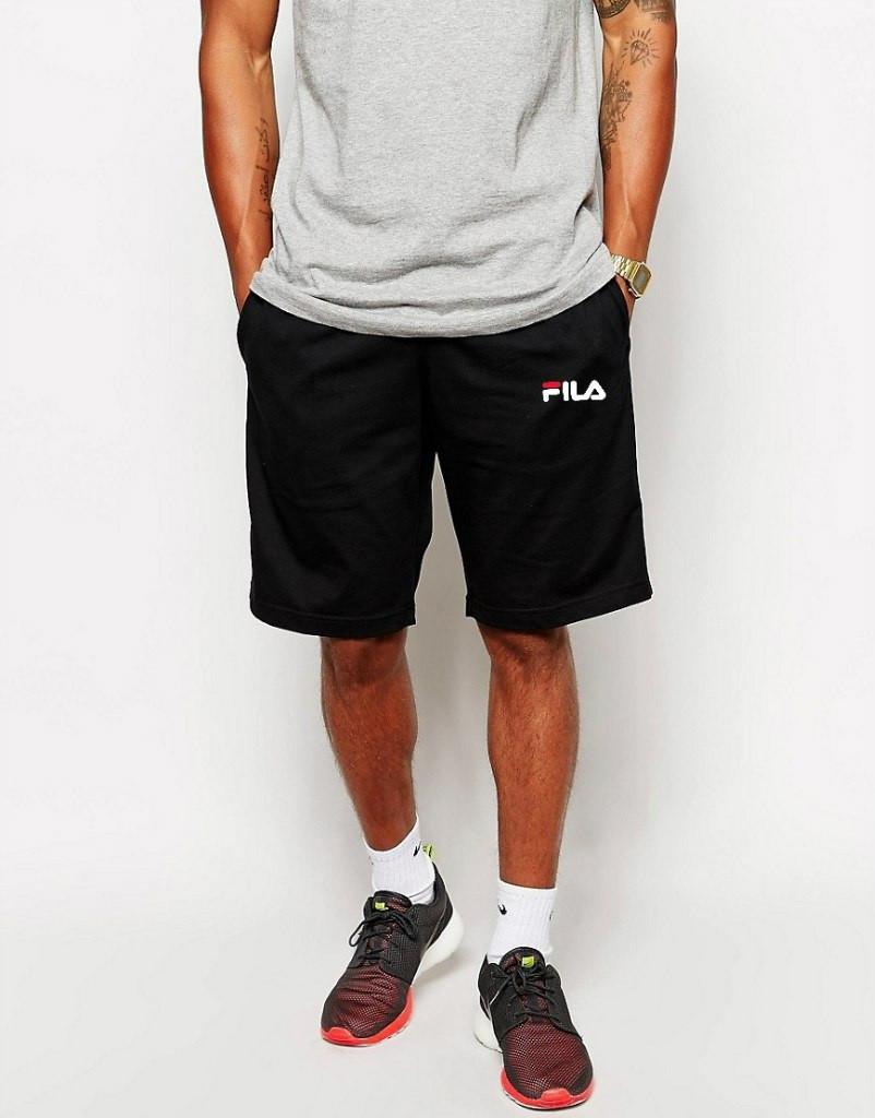 Шорты FILA ( Фила ) чёрные белый лого