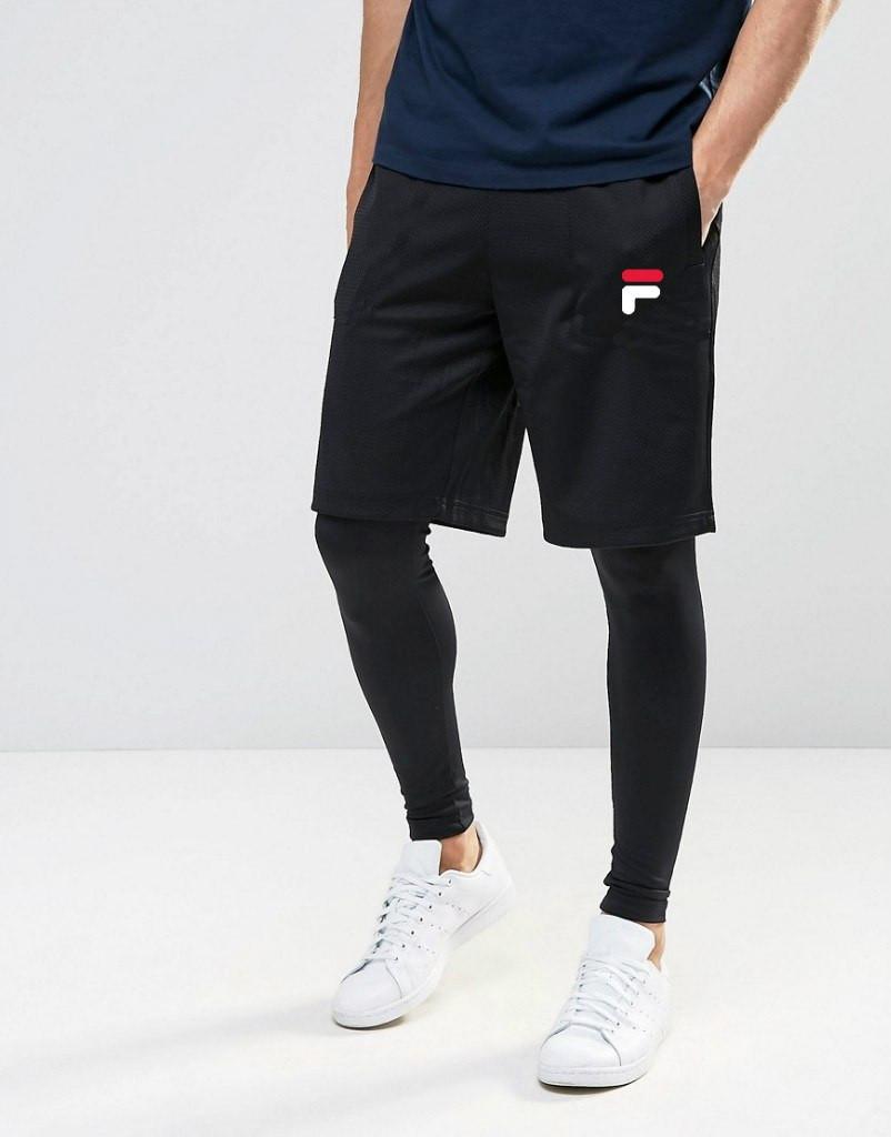 Шорты FILA ( Фила ) мужские белый лого
