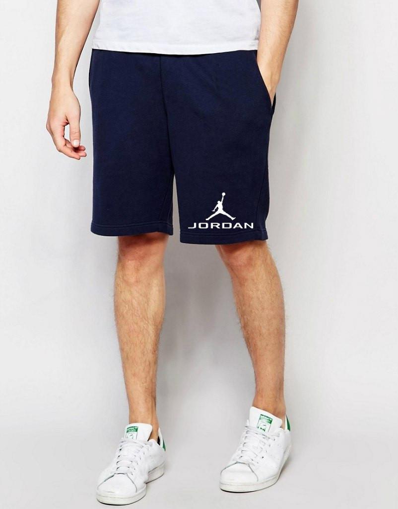 Шорти Jordan ( Джордан ) сині лого+позначка білий