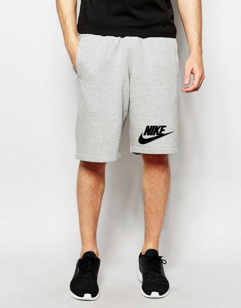 Шорты Nike ( Найк ) серые лого+галочка чёрный