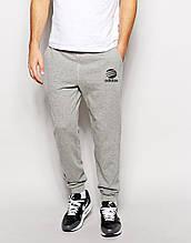 Чоловічі спортивні штани Adidas | Адідас сірі лого+ім'я чорні