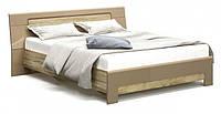 Кровать двуспальная Мебель Сервис система Флоренс 160х200 с ламелями Секвойя nn0m6o, КОД: 1534641
