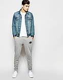 Мужские спортивные штаны NEW Balance | Нью Беланс серые лого чёрное, фото 2