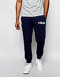 Мужские спортивные штаны FILA | Фила синие белый принт, фото 2